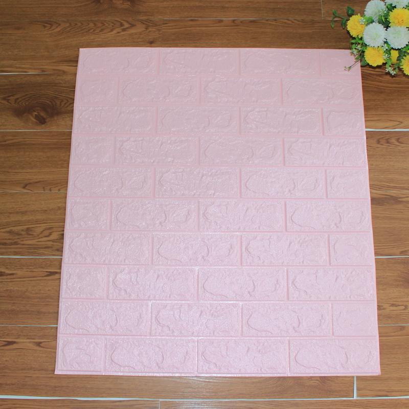 Xốp Dán Tường giả gạch hồng phấn 6mm