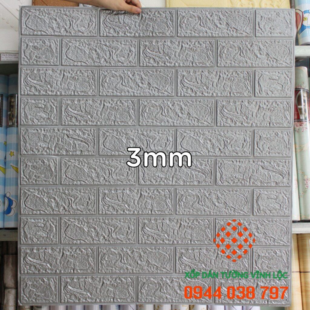 Xốp Dán Tường Giả Gạch Xám 3mm