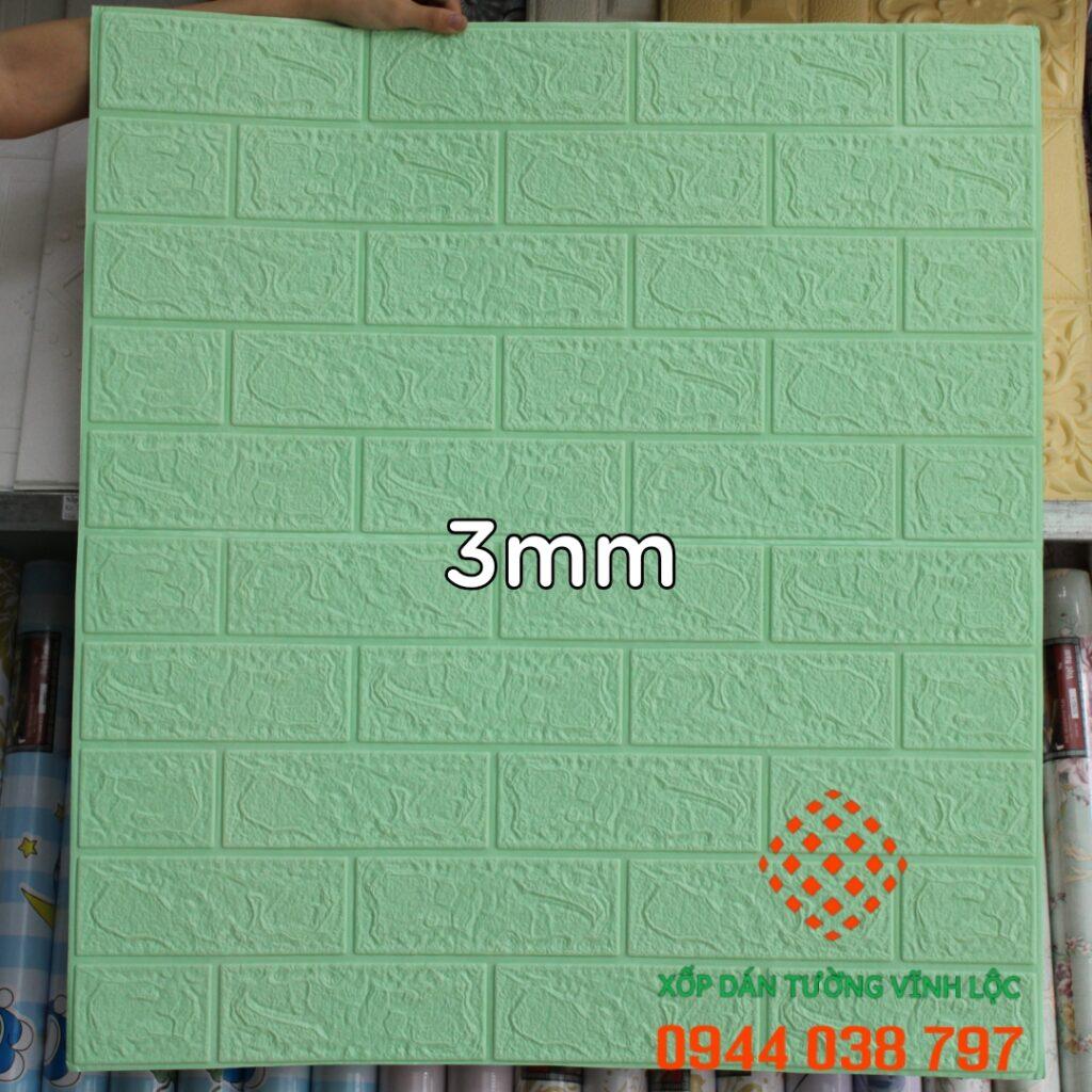 Xốp Dán Tường Giả Gạch Xanh Cốm 3mm