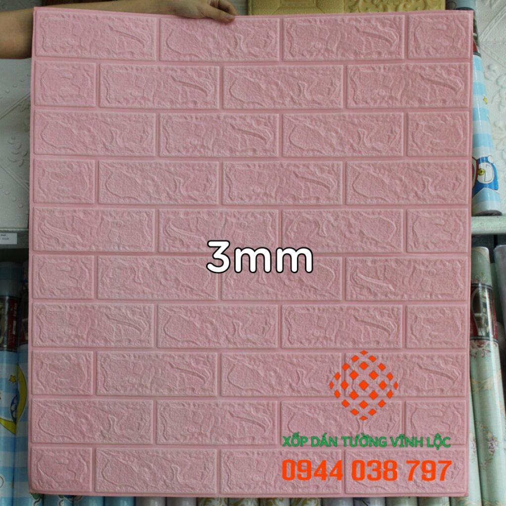 Xốp Dán Tường Giả Gạch Hồng Phấn 3mm